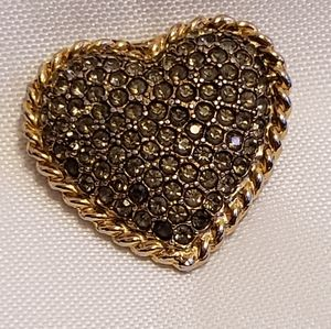 Vintage Graziano Heart Shaped Pin